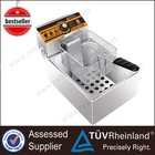 Restaurant Professional Gas/Electric Counter Top 1-Tank 1-Basket Fish And Chips Fryers