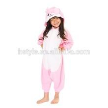niños chica de conejo color rosa animal onesie pijamas traje hfc036k venta al por mayor