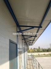 China hot sales light steel rock wool composite panel prefab houses