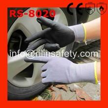 RILIN SAFETYAnsell HyFlex 11-801 palm foam nitrile coated working gloves ,cheap nitrile coated glovesEN388 EN420 CE
