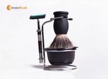 Hot sale super soft shaving with shaving stand for wholesale shaving brushes