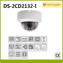 Free shipping Hikvision DS-2CD2132-I 3MP Network Mini Dome cctv camera 30M IR Digital HD waterproof w/POE network ip camera