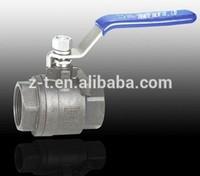 stainless steel 1000PSI 2PC 1000 WOG cf8m bullet valve ball velan from wenzhou zhengte