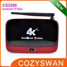 2014 newest CS3288 tv box rk3288 quad-core arm cortex-a17 mali-t764 2gb 8gb