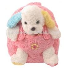 Custom dog plush backpacks, plush animal backpacks for girls