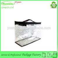Transparent large plastic blanket bag with handle