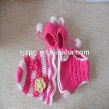 baby crochet photo prop manufacturer, Crochet Cowboy wool Hat and Booties