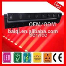 high luminous 8*10w beam rotating light RGBW color changing dj led aluminum housing led light bar