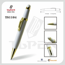 White metal stylus pen with gold parts TS1104
