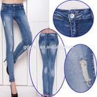 Ripped Jeans women 's denim pant 2014 Fashion Wash womens skinny jeans