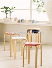 colorful wood stool