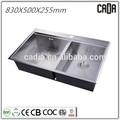 Designe con estilo venta de la tapa bowlsTop mounted830X500X255mm fregaderos de cocina de granito