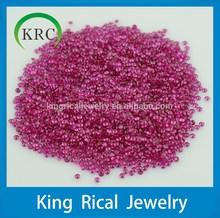 Ruby Gemstone 1.5mm 2mm 3mm Synthetic Corundum Brilliant Cut 5# corundum stone wholesale