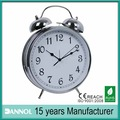 8inch big twin bell clock quartz chrome / corporate vip gifts / elderly alarm clock