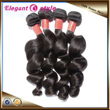 natural color top selling human hair cheap virgin brazilian loose wave hair, one piece hair extension