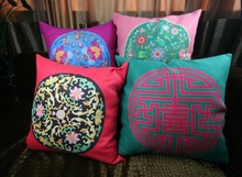 100%polyester linen digital printed decorative home cushion covers