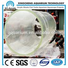 transparent color led plexiglass cast pmma cylinder tank aquarium