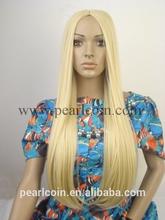 100% Synthetic Kanekalon Toyokalon Japanese Fiber Caucasian Natural Curl Blunded Wig