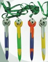 2015Football Match Promotional Plastic Lanyard Football Ball point Pen