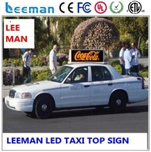 Mensaje controlado por ordenador de publicidad de pantalla led para taxi