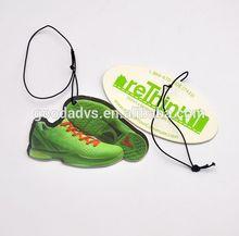 2014 new ideas cheap shoes shape sport gifts air freshener / car fragrance / best car fragrance