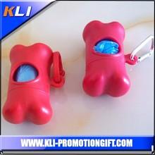 pink plastic dog shaped poop bag dispenser