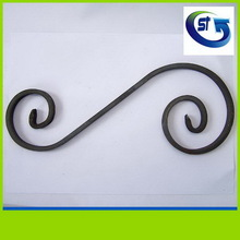 2014 hot selling decorative wrought iron c scroll