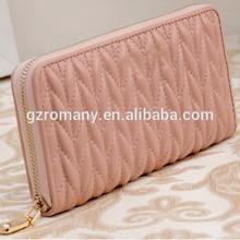genuine sheep skin wall/sheep skin/female/girl/lady/women OEM factory outlet low MOQ/highend/crease/fashion purse/handbag/purse