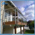 home use balcony handrail/railing design/glass balustrade veranda