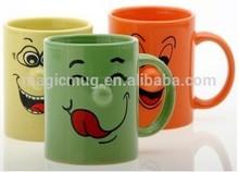 Green Glazed Ceramic Nose Mug