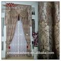 Mode rideau français, jacquard rideau de la fenêtre du panneau, rideau cantonnière et ensemble avec support