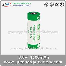 battery lithium 3.6v ER17505 3500mah 3.6v li/socl2 3.6volt dry cell battery from china manufacturer