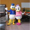 Caliente de ventas más reciente del pato donald daisy& pato mascota vestuario caminando lovely pato donald daisy& pato de la mascota de dibujos animados traje de cosplay