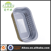 Restaurant/airline/hotel colorful lacquered aluminium foil tray for food packing