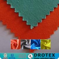 Stocklot Orange Cotton Fire Retardant twill fabric for workwear clothing