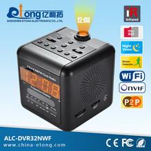 Hidden type Sony CCD 600 TVL clock radio long distance wireless security camera