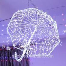 2014 indoor & outdoor decoration D:80cm 3d led umbrella shape landscape lighting for holiday or wedding/home decoration