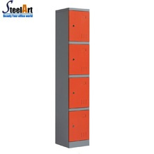 Steelart supply used hot sale steel metal 4 compartment locker
