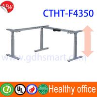 Alibaba express L shape electric height adjustable desk & Elche ergonomic sit stand desk