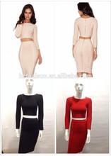 2014 newest fashion prom dress elegant long sleeve casual dresses suits bandage dress suits