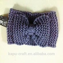 Fashion Ear Warmer Cabled Headband baby head wraps headbands bow accessory