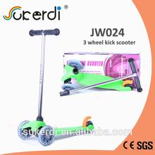120/80mm 3 wheel plug in aluminum T bar kick kick tricycle scooter