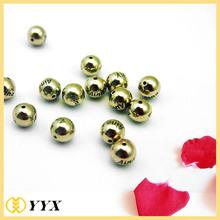 Custom Alphabet Letter Engraved Metal Logo Beads, Metal Logo Beads for Charm