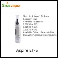 Original Aspire E Cig Rainbow Aspire ET-S Atomizer Supplier
