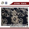 junma negro de oro y el patrón de flores acudieron africana de jacquard de terciopelo de tela de encaje