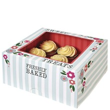 elegant cheap flower painting cupcake boxes