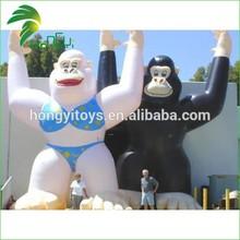 custom promotional inflatable monkey, inflatable advertising orangutan cartoon model