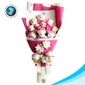 Cute bear plush toy chocolate bouquet for valentine's day