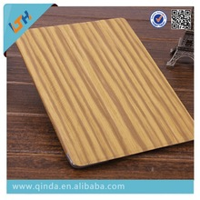 QinD 2014 new arrival wood pattern leather case ipad air 2 for ipad 6