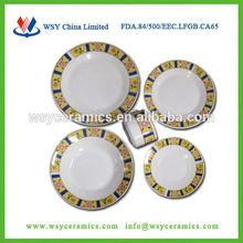 20 piece wholesale used resturant portuguese ceramic dinnerware